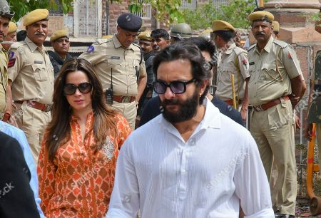 Saif Ali Khan, Neelam. Bollywood stars Saif Ali Khan, front and Neelam, left arrive to appear before a court in Jodhpur, Rajasthan state, India, . Khan and Neelam, who were among those accused of poaching rare deer in a wildlife preserve two decades ago were acquitted Thursday