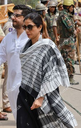Stock Picture of Bollywood star Tabu, front arrives to appear before a court in Jodhpur, Rajasthan state, India, . Tabu, who was among those accused of poaching rare deer in a wildlife preserve two decades ago was acquitted Thursday