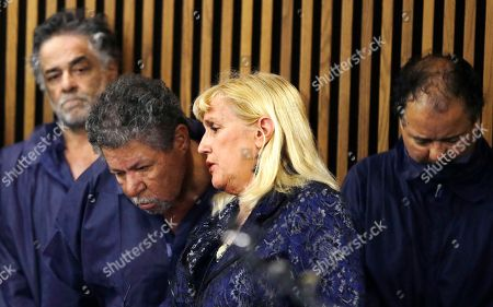 Ariel Castro, Pedro Castro, Kathleen DeMetz, Pedro Castro. Defense attorney Kathleen DeMetz, second from right, talks with Pedro Castro as Onil Castro, left, watches and Ariel Castro, right, looks down, in Cleveland Municipal court, in Cleveland. Ariel Castro was charged with four counts of kidnapping and three counts of rape. Pedro Castro pleaded no contest to an unrelated open-container charge in court Monday. Two unrelated misdemeanor charges against Onil Castro were dropped. Police announced on Thursday afternoon that 54-year-old Pedro Castro and 50-year-old Onil Castro had been released from jail
