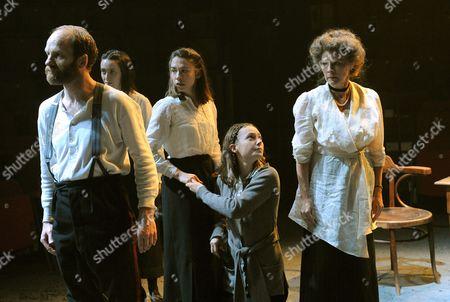 'The House of Special Purpose' - Adrian Rawlins (Nicholas), Caroline Martin (Tatiana),  Kate O'Flynn (Anastasia), Lydia Wilson (Maria) and Clare Holman (Alix)