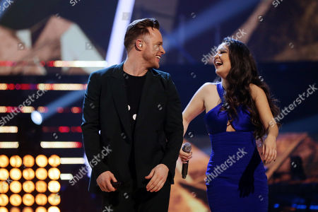 Lauren Bannon and Olly Murs