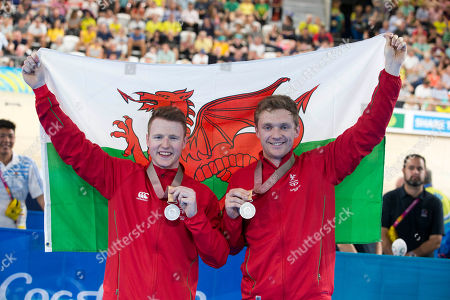Team Wales silver medal cyclists 1000 time trial James Ball and Peter Mitchell
