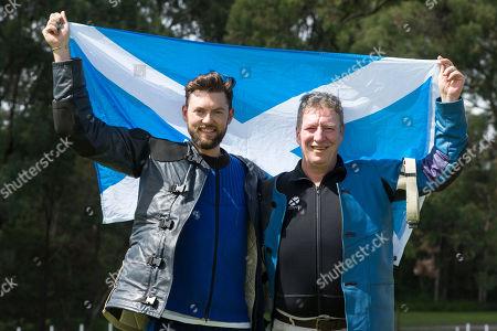 Team Scotland Training session at belmont shooting, Sandy Walker (left) Ian Shaw (right)