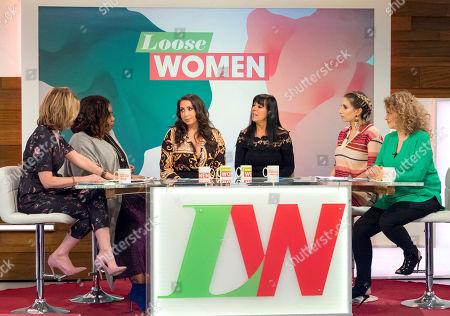 Kaye Adams, Chizzy Akudolu, Paula Williamson, Irene Dunroe, Stacey Solomon and Nadia Sawalha