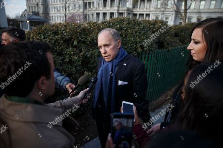 National Economic Council Director Larry Kudlow responds to a question from the news media outside the West Wing of the White House in Washington, DC, USA 05 April 2018. National Economic Council Director Larry Kudlow who replaced Gary Cohn as President Trump's top economic advisor said China is to blame for unfair trade.