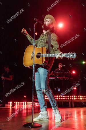 Editorial photo of Mat Kearney in concert, Madison, USA - 07 Mar 2018