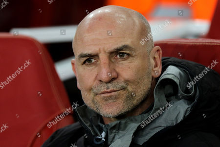 Arsenal's Assistant Manager, Steve Bould during Arsenal vs CSKA Moscow, UEFA Europa League Football at the Emirates Stadium on 5th April 2018