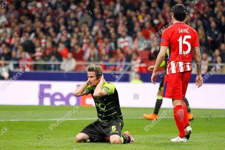 Fabio Coentrao of Sporting lamenting