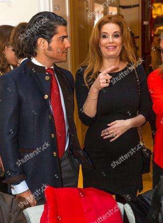 Stock Photo of Olivia de Borbon, Julian Porras