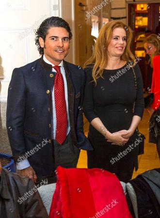 Stock Picture of Olivia de Borbon, Julian Porras