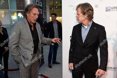 """William Fichtner, William H. Macy. William Fichtner, left, and William H. Macy speak as they arrive at the Los Angeles premiere of """"Krystal"""" at ArcLight Hollywood on"""