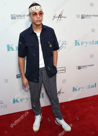 "Brian Whittaker arrives at the Los Angeles premiere of ""Krystal"" at ArcLight Hollywood on"