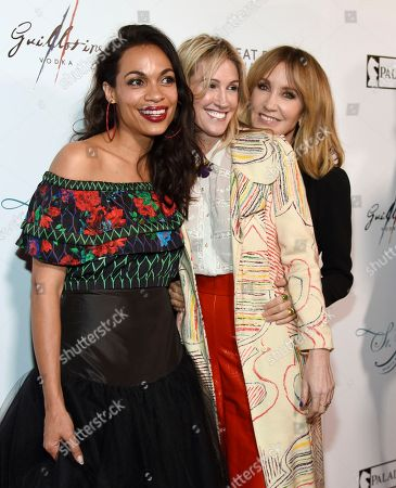 """Rosario Dawson, Rachel Winter, Felicity Huffman. Rosario Dawson, from left, Rachel Winter and Felicity Huffman arrive at the Los Angeles premiere of """"Krystal"""" at ArcLight Hollywood on"""