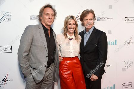 """William Fichtner, Rachel Winter, William H. Macy. William Fichtner, from left, Rachel Winter and William H. Macy arrive at the Los Angeles premiere of """"Krystal"""" at ArcLight Hollywood on"""