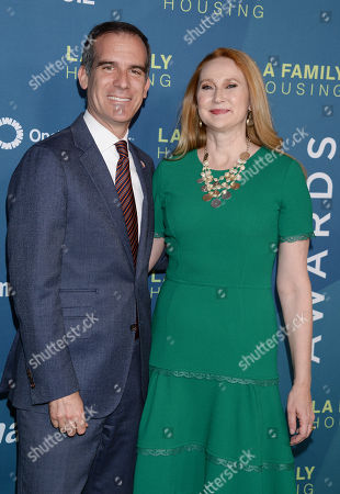 Eric Garcetti and Amy Wakeland