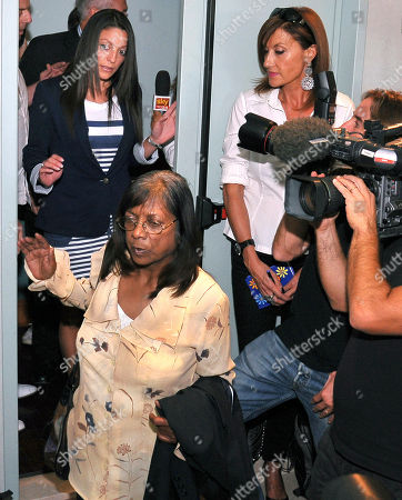"Arline Kercher, Stephanie Kercher. Arline Kercher, front left, mother of slain British student Meredith Kercher arrives followed by her daughter Stephanie, background left, for a news conference in Perugia, Italy, . The sister of slain British student Meredith Kercher has urged the court to weigh the evidence against Amanda Knox and not pay attention to the ""media hype"" surrounding the high-profile case. Stephanie Kercher spoke to reporters as the eight-member jury on Monday deliberated the fate of Knox and co-defendant Raffaele Sollecito, who are appealing their 2009 murder convictions. Stephanie Kercher, her mother and her brother are in Perugia for the verdict, expected later Monday"