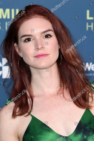 Emily Tyra attends the 2018 LA Family Housing Awards at The Lot Studios, in West Hollywood, Calif
