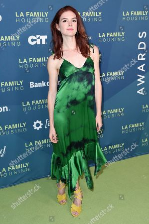 Stock Image of Emily Tyra attends the 2018 LA Family Housing Awards at The Lot Studios, in West Hollywood, Calif