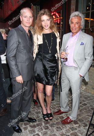 Justin Portman and Natalia Vodianova and guest