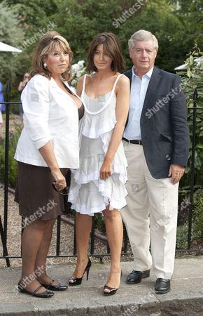 Eve Pollard, Claudia Winklemen and Sir Nicholas Lloyd