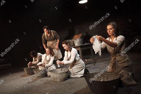 'The House of Special Purpose' - Kate O'Flynn (Anastasia Romanov), Kieran Bew (Yakunin), Lydia Wilson (Maria Romanov), Caroline Martin (Tatiana Romanov), Annabel Scholey (Olga Romanov)