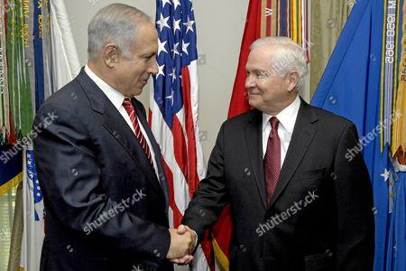 Prime Minister Binyamin Netanyahu of Israel and United States Secretary of Defense Robert M. Gates