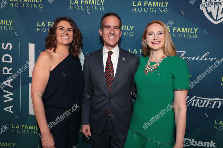 President and CEO, LA Family Housing - Stephanie Klasky-Gamer, Mayor of Los Angeles, Eric Garcetti and Amy Wakeland