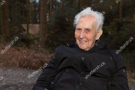 Stock Picture of Jack Reynolds, from Derbyshire, celebrated his 106th birthday, by taking a ride on the 197ft (60m) high, 1,312ft (400m) long zip wire live on ITV's Good Morning Britain to raise money for the Stroke Association. The stunt earned Reynolds a Guiness World Record