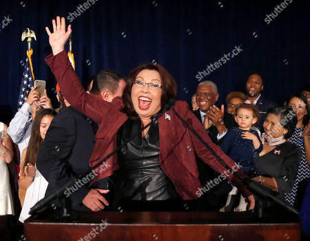 Sen.-elect Tammy Duckworth, D-Ill., celebrates her win over incumbent Sen. Mark Kirk, R-Ill., during her election night party, in Chicago
