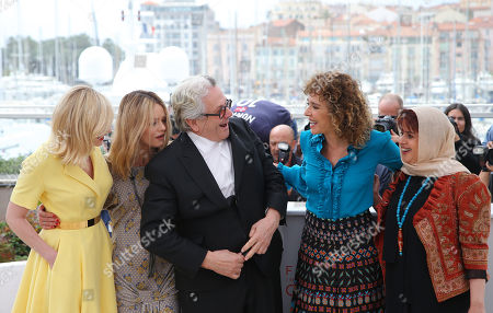 Kirsten Dunst, Vanessa Paradis, George Miller, Valeria Golino, Katayoon Shahabi. Jury members Kirsten Dunst, from left, Vanessa Paradis, President of the Jury George Miller, Valeria Golino and Katayoon Shahabi pose for photographers during a photo call for the Jury at the 69th international film festival, Cannes, southern France