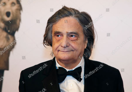 """French actor Jean-Pierre Leaud poses before the French premiere of """"Isle of Dogs"""" in Paris, France"""