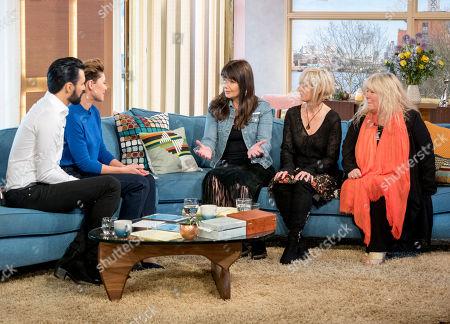 Rylan Clark and Emma Willis with Beverley Craven, Julia Fordham and Judie Tzuke