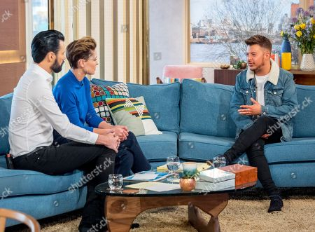 Rylan Clark and Emma Willis with Ryan Ruckledge