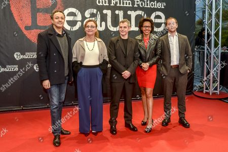 Stock Image of Chad Chenouga, Catherine Frot, Lucas Belvaux, Audrey Pulvar, Malik Zidi