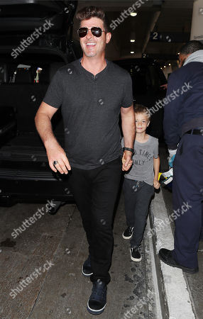Editorial image of Robin Thicke and April Love Geary at LAX International Airport, Los Angeles, USA - 05 Apr 2018