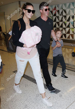 Editorial picture of Robin Thicke and April Love Geary at LAX International Airport, Los Angeles, USA - 05 Apr 2018