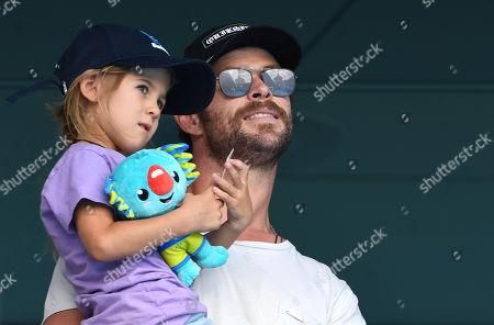 Stock Image of Chris Hemsworth and India-Rose Hemsworth