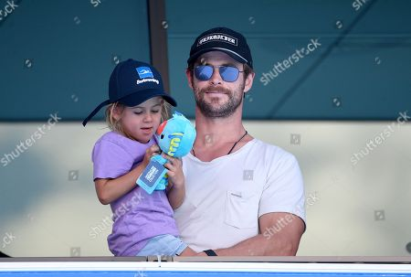 Stock Picture of Chris Hemsworth and India-Rose Hemsworth