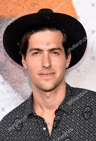 """Andrew Duplessie, a cast member in the television series """"American Horror Story: Cult,"""" poses at an Emmy For Your Consideration screening of the show, in Beverly Hills, Calif"""