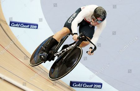 England's Philip Hindes competes during the Men's Sprint qualifying at the Anna Meares Velodrome during the 2018 Commonwealth Games in Brisbane, Australia