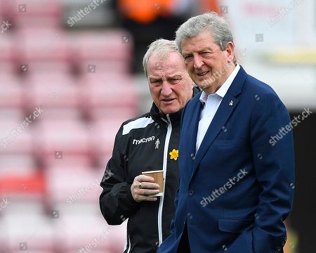 Crystal Palace Manager Roy Hodgson and assistant Ray Lewington during AFC Bournemouth vs Crystal Palace, Premier League Football at the Vitality Stadium on 7th April 2018