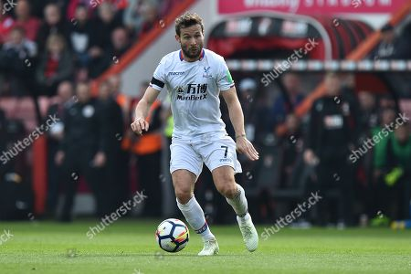 Yohan Cabaye (7) of Crystal Palace during the Premier League match between Bournemouth and Crystal Palace at the Vitality Stadium, Bournemouth. Picture by Graham Hunt