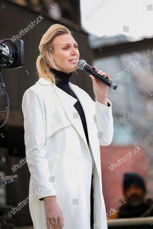Sanna Nielsen at a memorial concert
