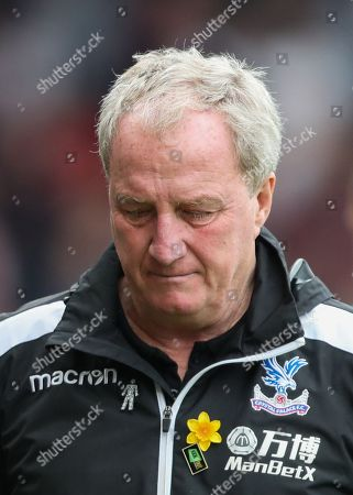 Fulham Assistant Manager Ray Lewington with a look of dejection