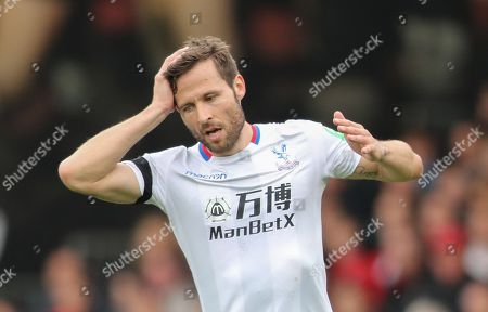 Yohan Cabaye of Crystal Palace with a look of Dejection