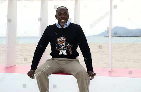 US actor and Jury member of Cannes Series Michael Kenneth Williams poses during the photocall at the 1st Cannes Series Festival in Cannes, 07 April 2018. The event will take place from 04 to 11 April.