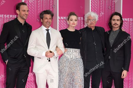 Stock Picture of Joel Dicker, Patrick Dempsey, Kristine Froseth, Jean-Jacques Annaud and Ben Schnetzer