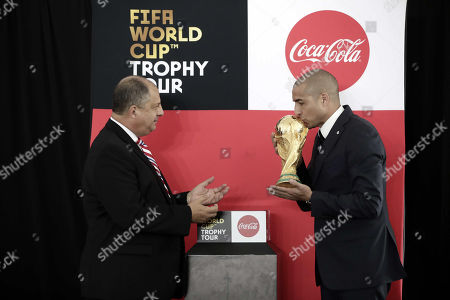 Stock Image of Guillermo Solís and David Trezeguet