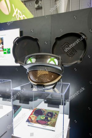 The deadmau5 custom Xbox One X console with the custom deadmau5 mau5head at the PAX East Xbox booth at the Boston Convention and Exhibition Center on in Boston