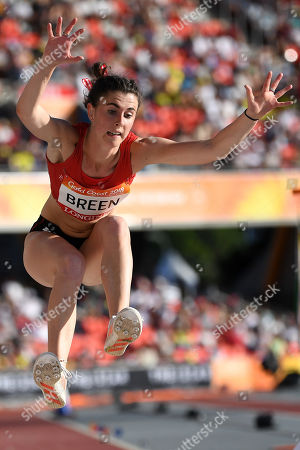 Olivia Breen of Wales in action  during the women's T38 Long Jump Final on day four of the XXI Commonwealth Games, at the Gold Coast, Australia, 08 April 2018.
